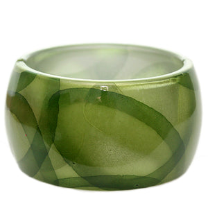 Green Glossy Art Deco Hinged Bracelet