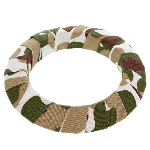 Brown Army Camouflage Saucer Bangle Bracelet