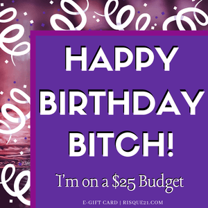 Happy Birthday I'm on a Budget | e-Gift card