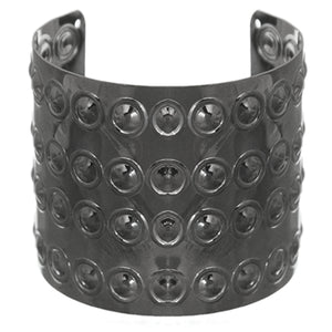 Hematite Beaded Inlay Cuff Bracelet