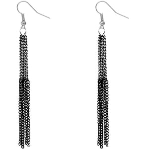 Hematite Chain Earrings