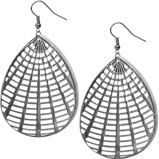 Hematite Cutout Earrings