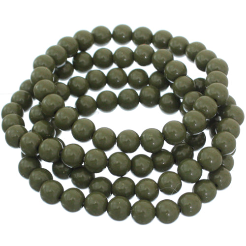 Hunter Green 4-Piece Beaded Stretch Bracelets