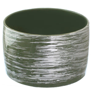 Hunter Green Large Wide Bangle Bracelet