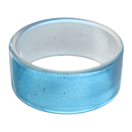 Blue Glossy Acrylic Bangle Bracelet
