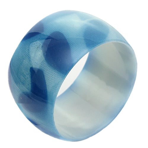 Blue Spotted Glossy Bangle Bracelet