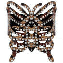 Light Brown Cheetah Butterfly Snap Bracelet
