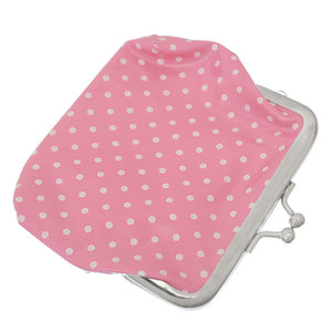 Light Pink Polka Dot Kisslock Coin Purse Wallet