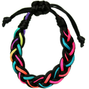 Multicolor Adjustable Braided Friendship Bracelet