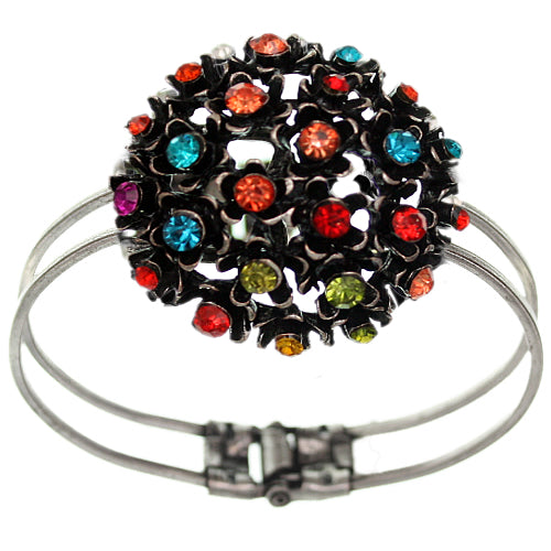 Multicolor Flower Bouquet Hinged Bracelet