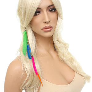 Multicolor Chain Feather Headband
