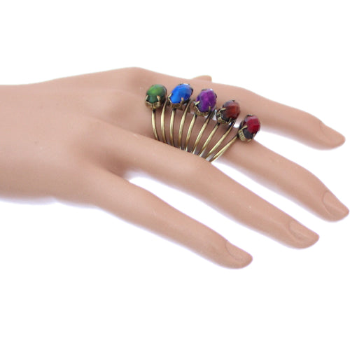 Multicolor Beaded Coil Wrap Ring