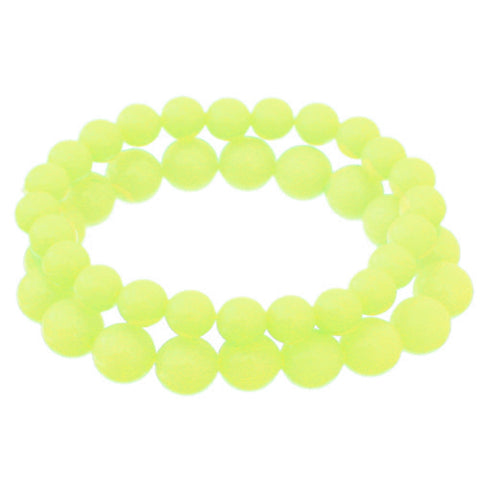 Neon Yellow 2-Piece Beaded Stretch Bracelets