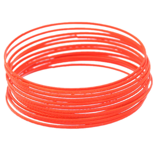 Orange 11-Piece Thin Stacked Bracelets
