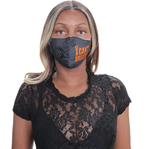 Orange I can't Breath Face Mask