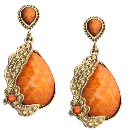 Orange Elegant Earrings