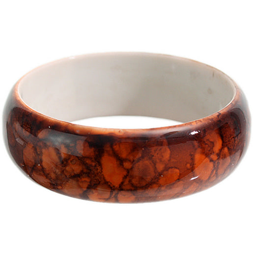 Orange Grunge Textured Bangle Bracelet