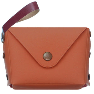 Orange Mini Wristlet Wallet