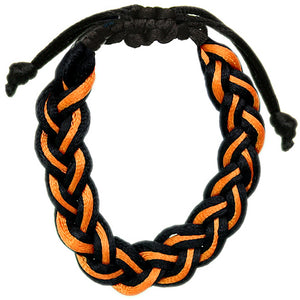Orange Adjustable Braided Friendship Bracelet