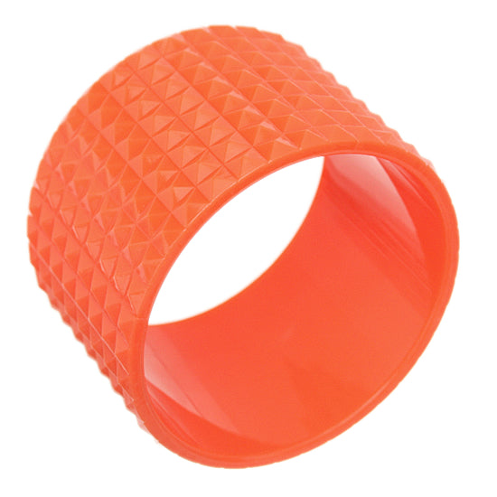 Orange Pyramid Cone Bangle Bracelet