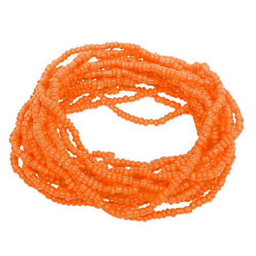 Orange Beaded Stretch Stacked Bracelets