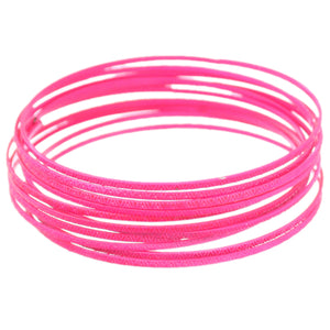 Pink 11-Piece Thin Stacked Bracelets