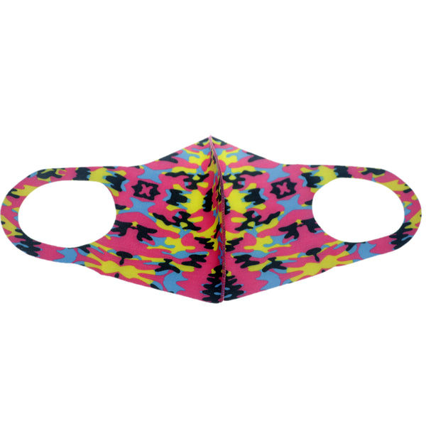 Pink Multicolor Camouflage Face Mask