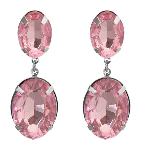 Pink Oval Earrings