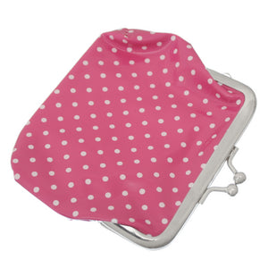 Pink Polka Dot Kisslock Coin Purse Wallet