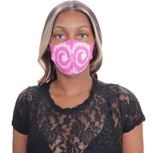 Pink Swirl Pattern Face Mask