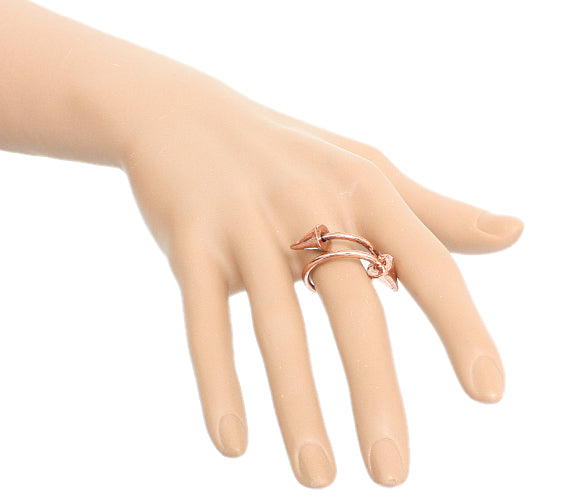 Rose Gold Swirl Mini Cone Adjustable Ring