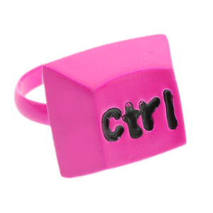 Pink Keyboard CTRL Key Adjustable Ring