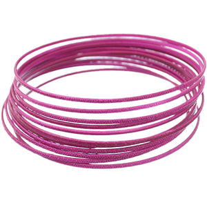 Purple 11-Piece Thin Stacked Bracelets
