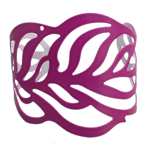 Purple Cutout Leaf Cuff Bracelet