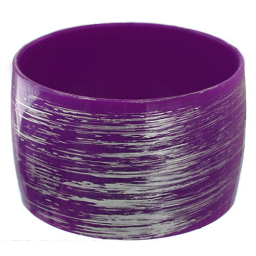Purple Large Wide Bangle Bracelet