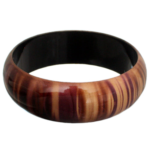 Purple Multicolor Striped Bangle Bracelet