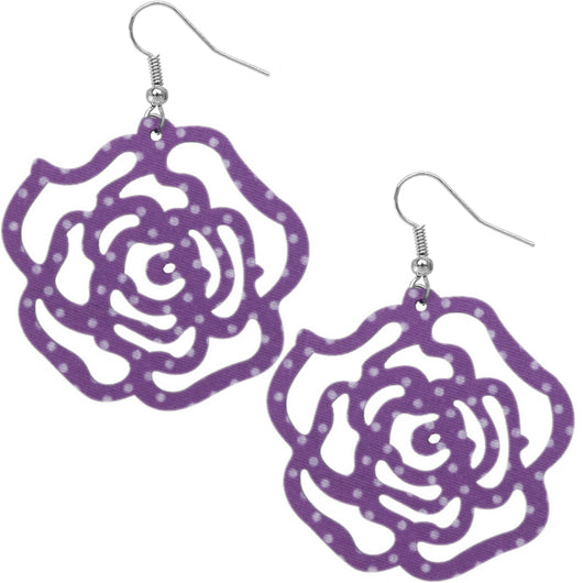 Purple Polka Dot Earrings