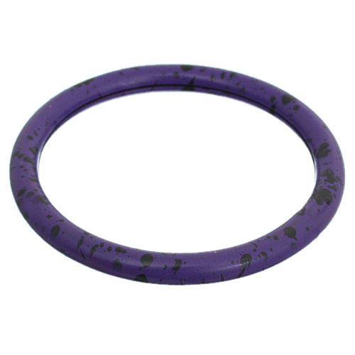 Purple Speckled Metal Bangle Bracelet