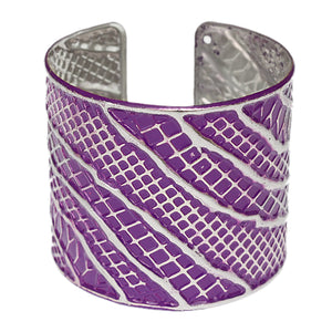 Purple Textured Cuff Bracelet