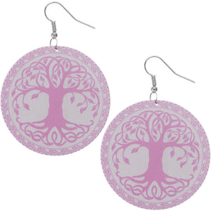 Purple Tree Of Life Earrings