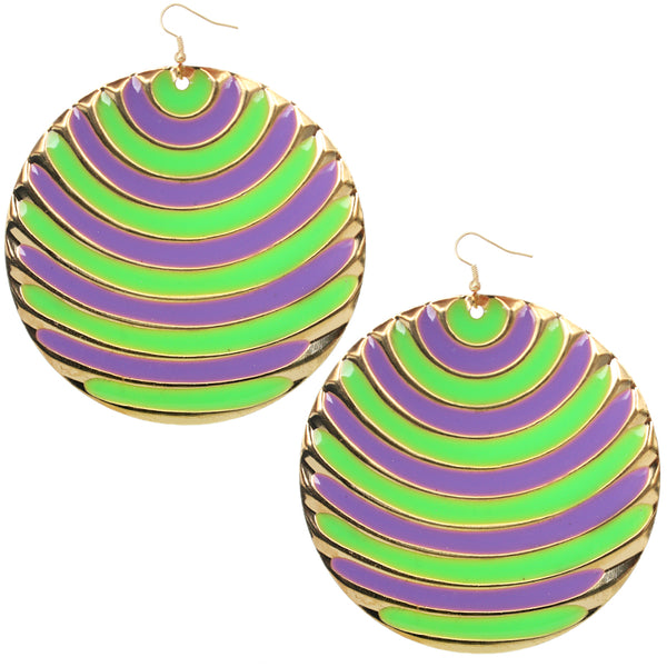 Purple two tone earrings