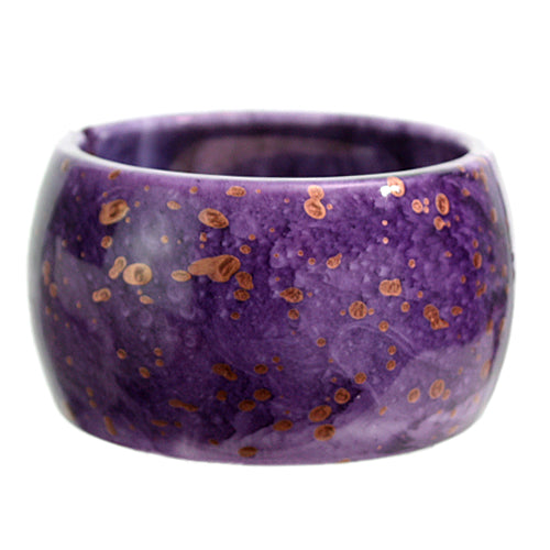 Purple Spotted Round Hinged Bracelet
