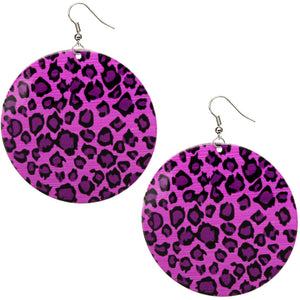 Purple Round Thin Spotted Earrings