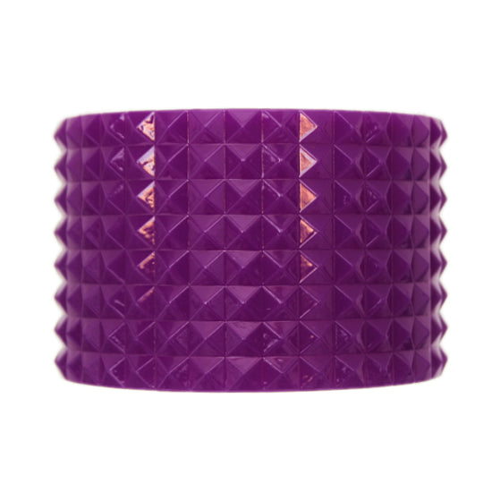 Purple Pyramid Cone Bangle Bracelet