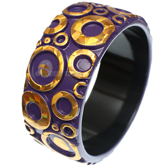 Purple Foil Bubble Bangle Bracelet