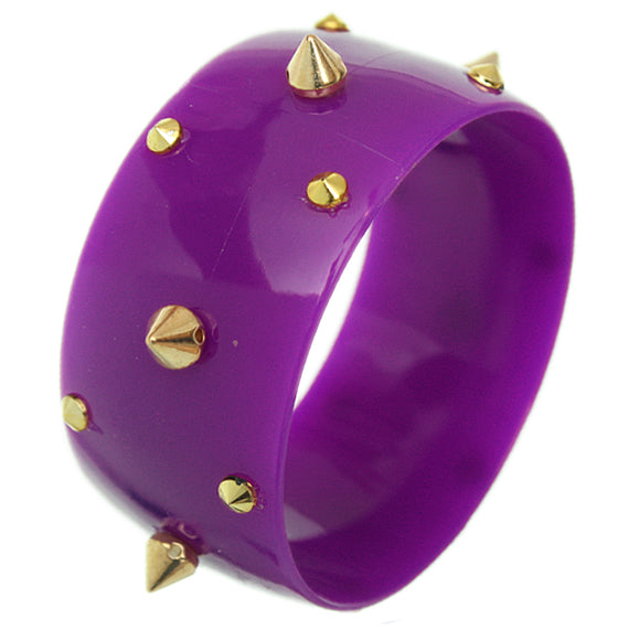 Purple Spiked Bangle Bracelet