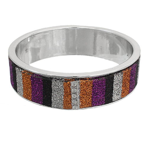Purple Multicolor Glitter Bangle Bracelet