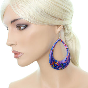 Purple Boho earrings