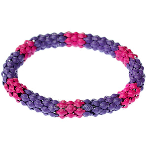 Pink Purple Connected Stretch Bracelet