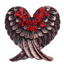 Red Beaded Double Wing Adjustable Ring